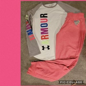 Youth med under armour,  14 joggers tcp